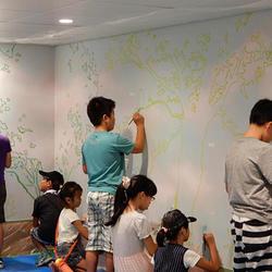 ファミリースペースの内壁を塗装