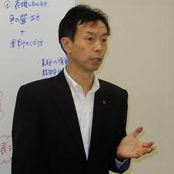 「デザインペイントには品質と創造力が求められている」と下田社長