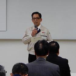 「これからもお客様の付加価値向上に寄与していきたい」と間宮幹雄社長