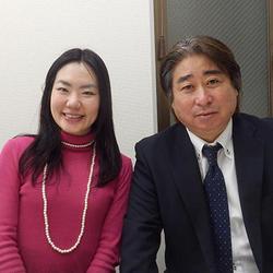 舛添菜穂子さん(左)と原島信一氏