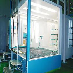 ラボ施設には粉体塗装システムを完備
