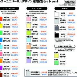CUD推奨配色セット