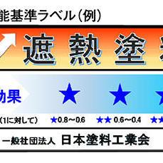遮熱性能基準ラベル(例)
