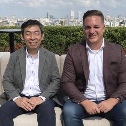 セールスマネージャー・Tom Liebrand氏(写真右)とマグペイントジャパン・西村純一社長(同左)