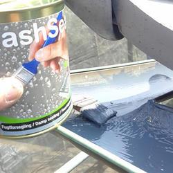「フラッシュシール」施工後の雨樋