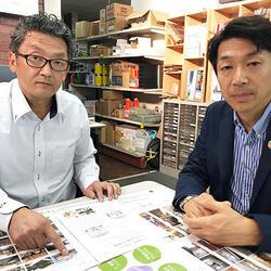 西田塗料・西田専務(左)とアーテック・林田社長(右)