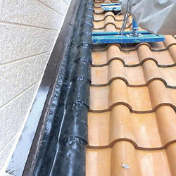 壁と屋根の取り合いに