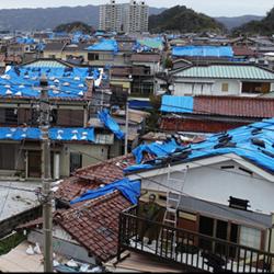被災した住宅